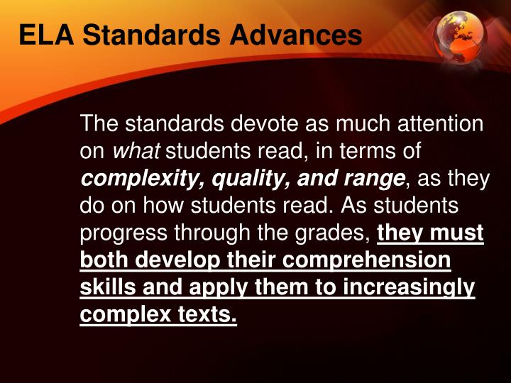 ELA Standards Advances