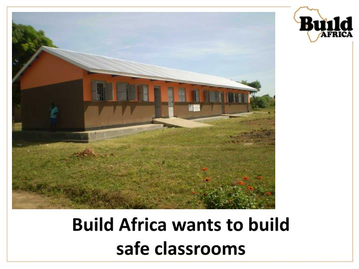 Build Africa wants to build