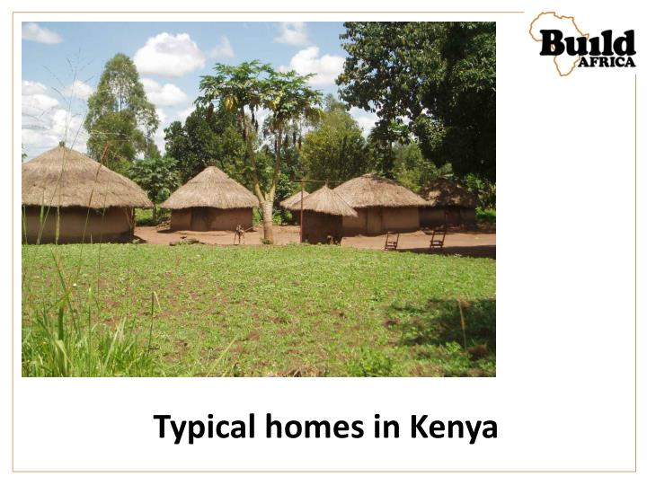 Typical homes in Kenya