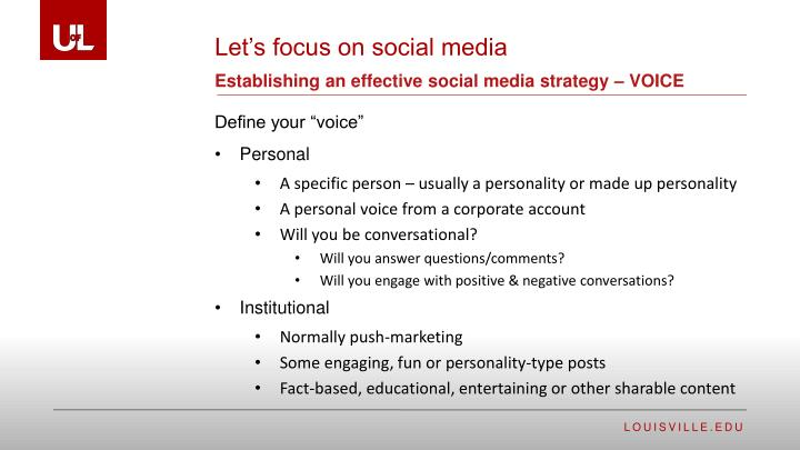 Establishing an effective social media strategy – VOICE