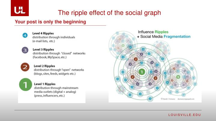 The ripple effect of the social
