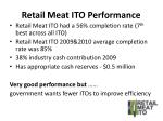 retail meat ito performance