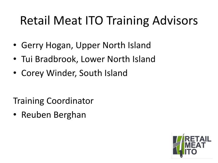 Retail Meat ITO Training Advisors