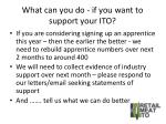 what can you do if you want to support your ito