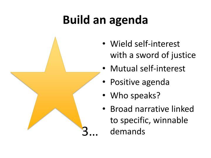 Build an agenda