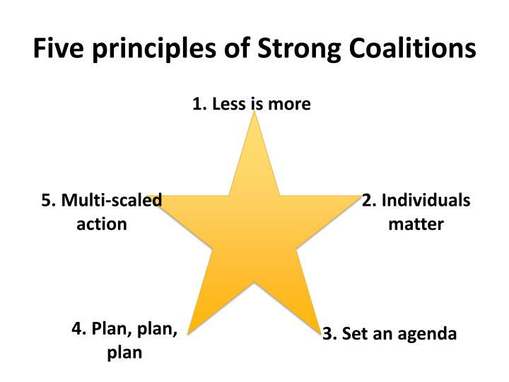 Five principles of Strong Coalitions