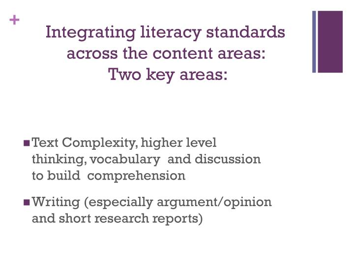 Integrating literacy standards across the content areas: