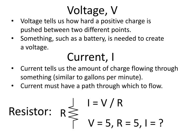 Voltage, V