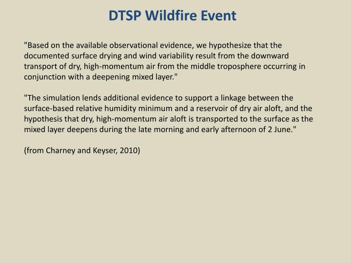 DTSP Wildfire Event