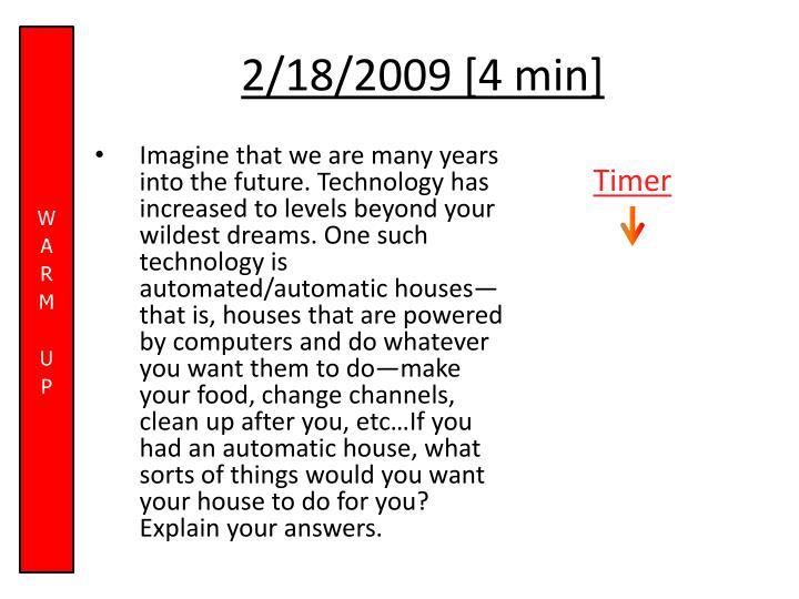 2/18/2009 [4 min]