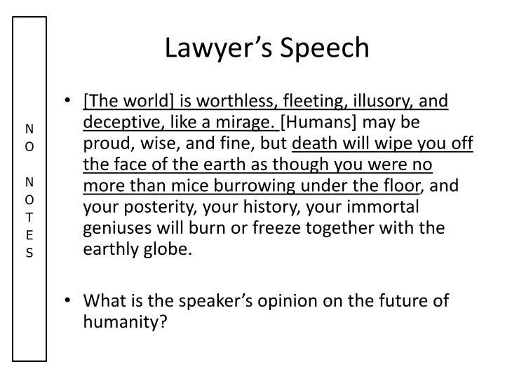Lawyer's Speech