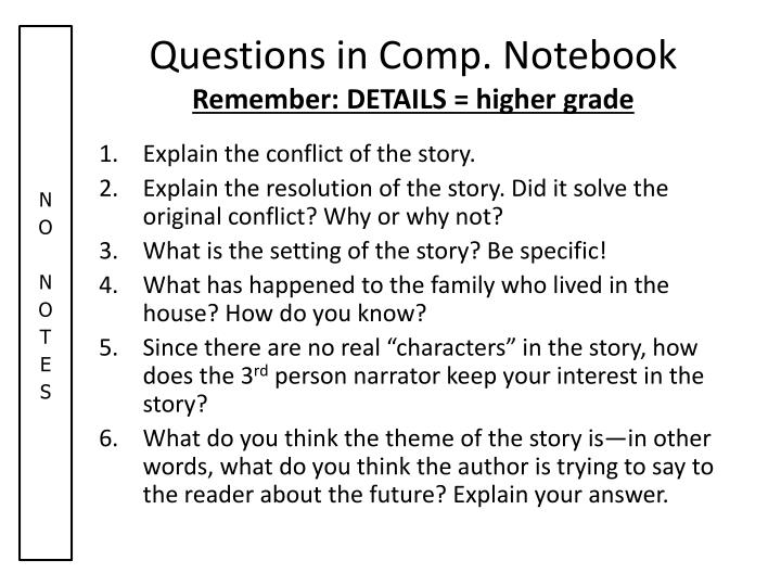 Questions in Comp. Notebook