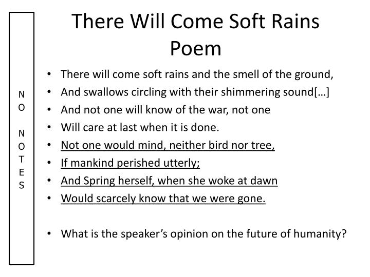 There Will Come Soft Rains Poem