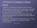 passive transport three types