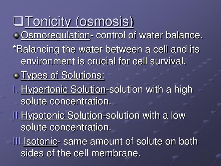 Tonicity (osmosis)