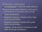tonicity osmosis