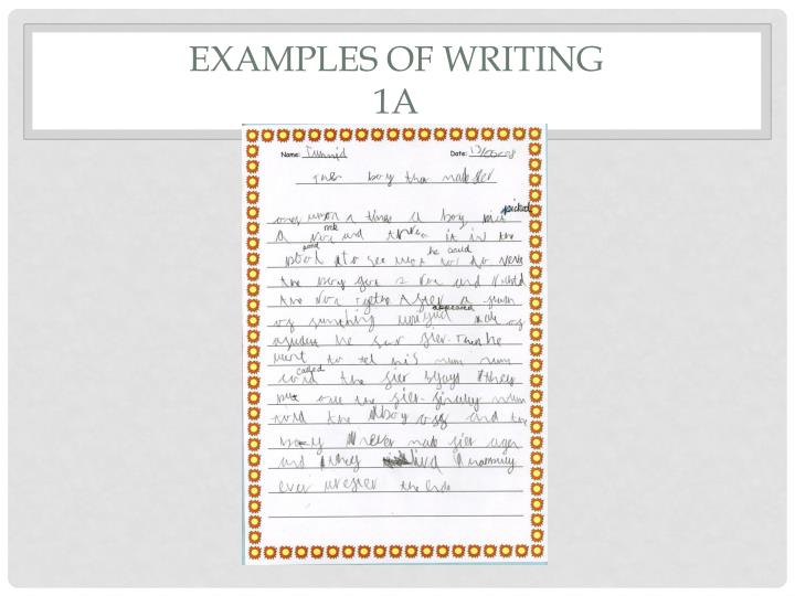 examples of writing