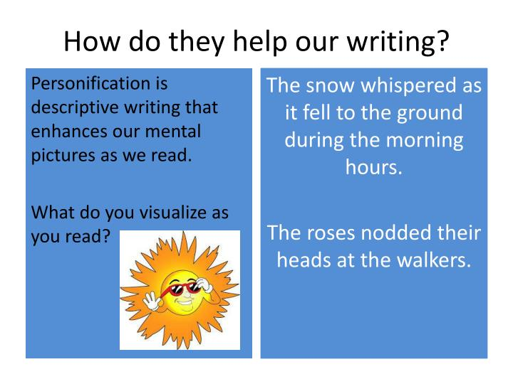 How do they help our writing?