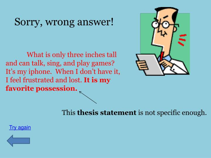 Sorry, wrong answer!