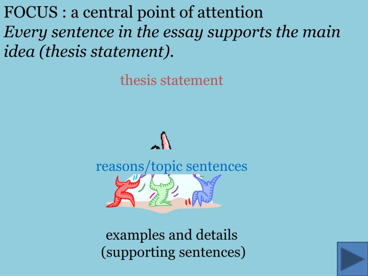 FOCUS : a central point of attention