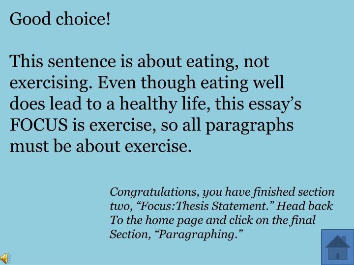 Good choice!