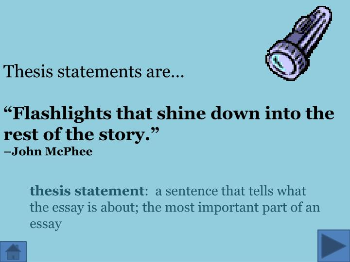 Thesis statements are…