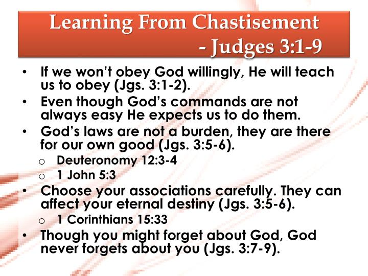 Learning From Chastisement