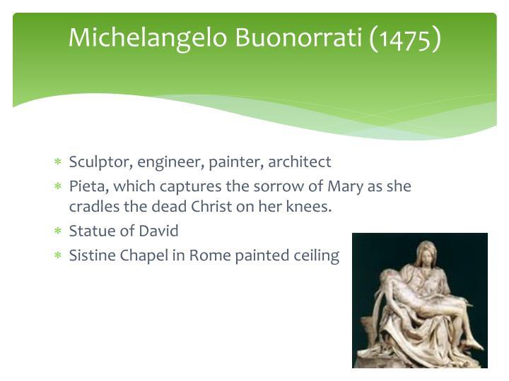 Michelangelo Buonorrati (1475)