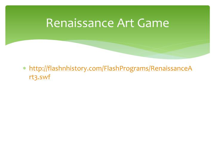 Renaissance Art Game