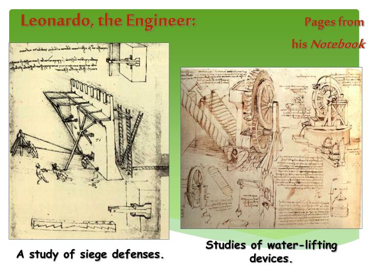 Leonardo, the Engineer: