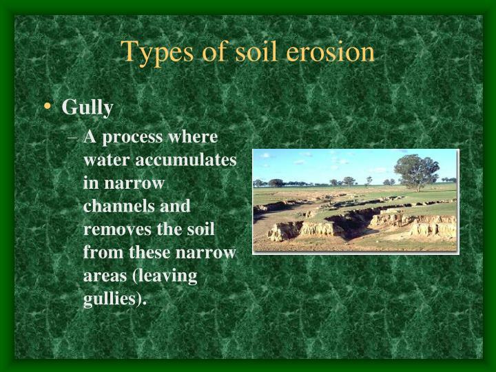 Types of soil erosion