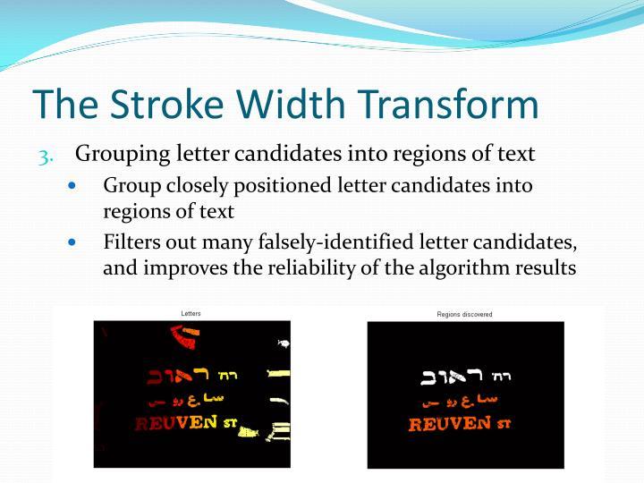 The Stroke Width Transform