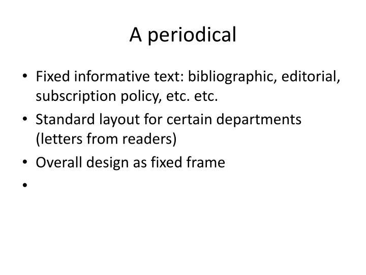 A periodical