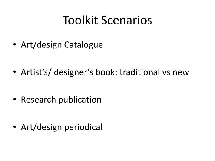 Toolkit Scenarios