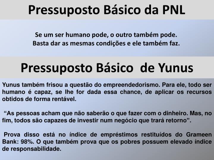 Pressuposto Básico da PNL