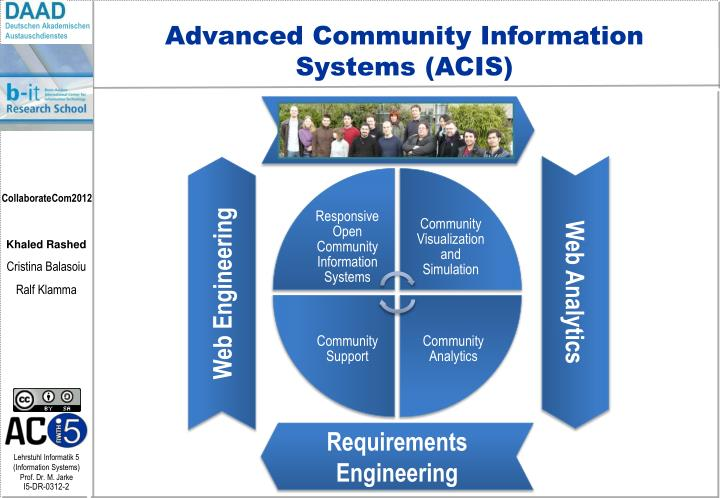 Advanced Community Information Systems (ACIS)
