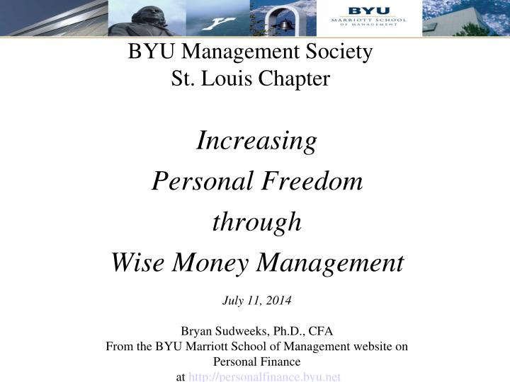 Byu management society st louis chapter