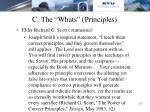 c the whats principles