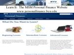 learn it the msm personal finance website www personalfinance byu edu