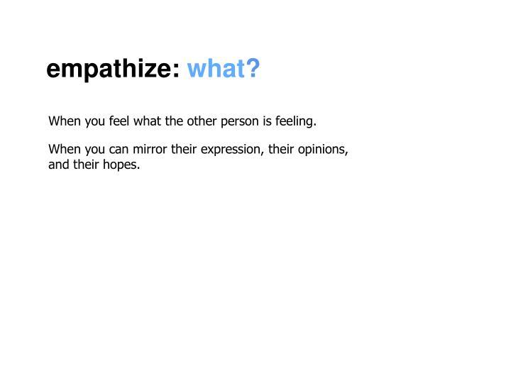 empathize:
