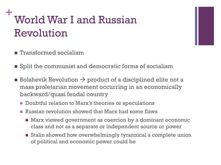 World War I and Russian Revolution