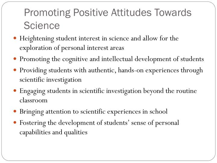 Promoting positive attitudes towards science