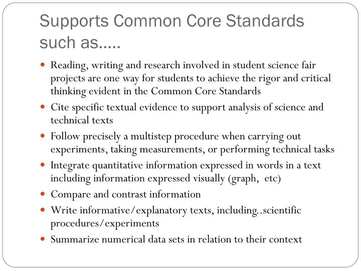Supports Common Core