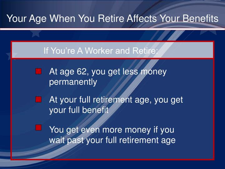 Your Age When You Retire Affects Your Benefits