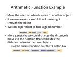 arithmetic function example