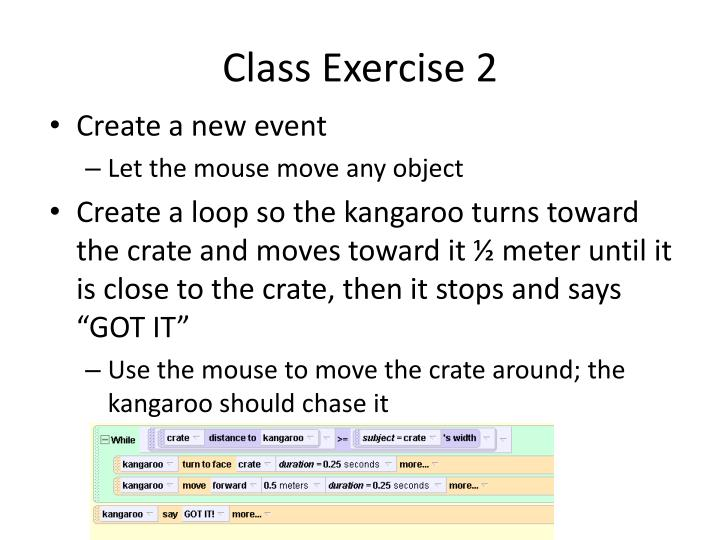 Class Exercise 2