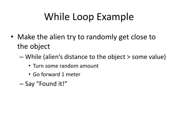 While Loop Example