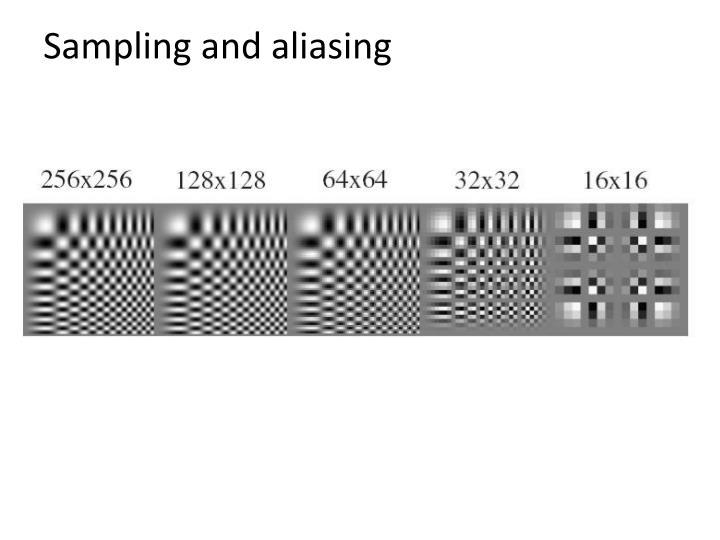 Sampling and aliasing