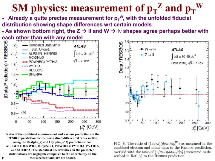SM physics: measurement of
