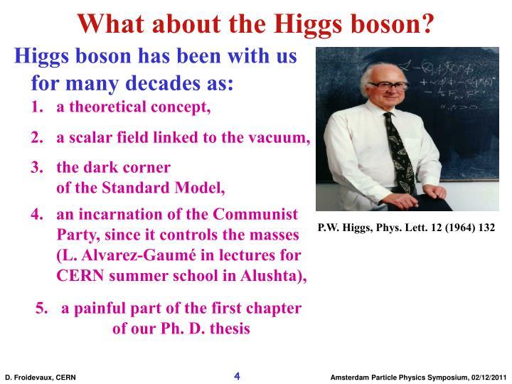 P.W. Higgs, Phys. Lett. 12 (1964) 132